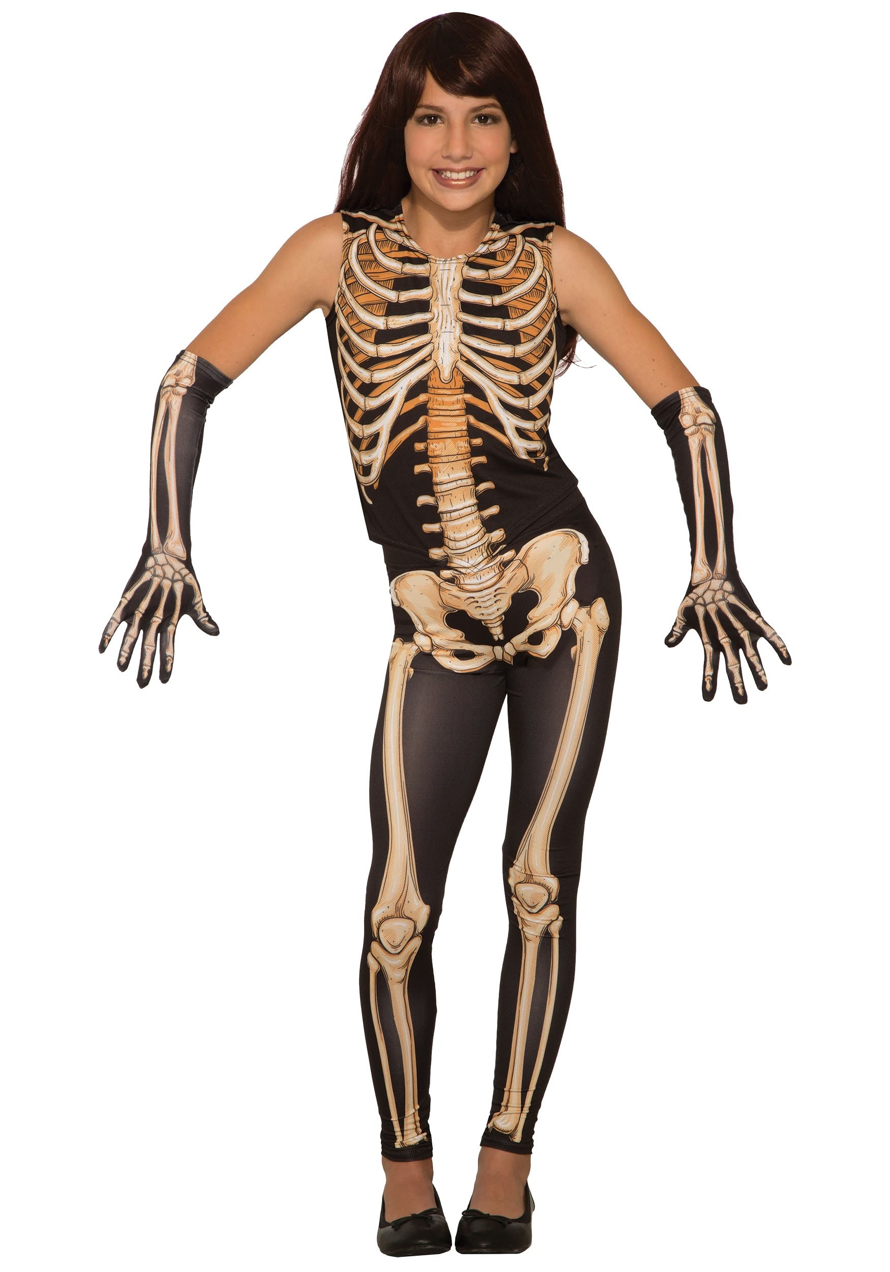 Pretty Bones Girl's Skeleton Costume
