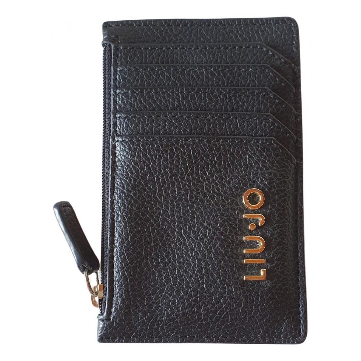 Liu.jo \N Portemonnaie in  Schwarz Kunststoff