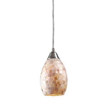 10141/1-LED Capri 1-Light Pendant in Satin Nickel -