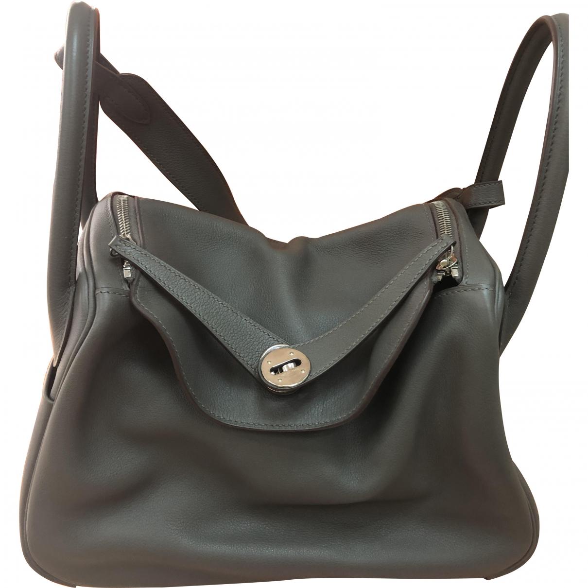 Hermès Lindy Grey Leather handbag for Women \N