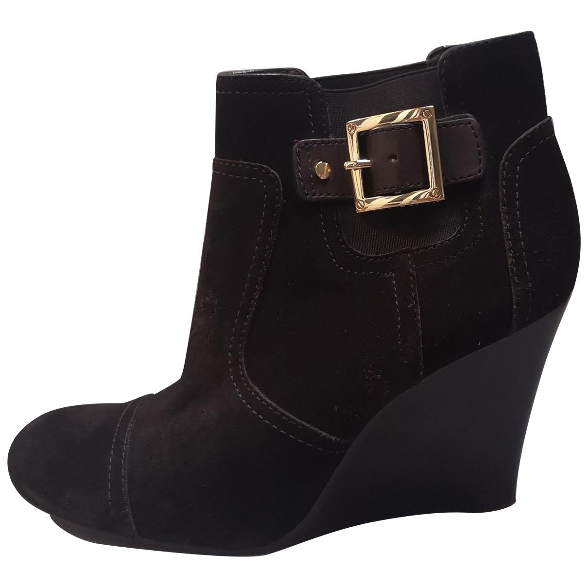 Tory Burch - Boots   pour femme en suede - noir