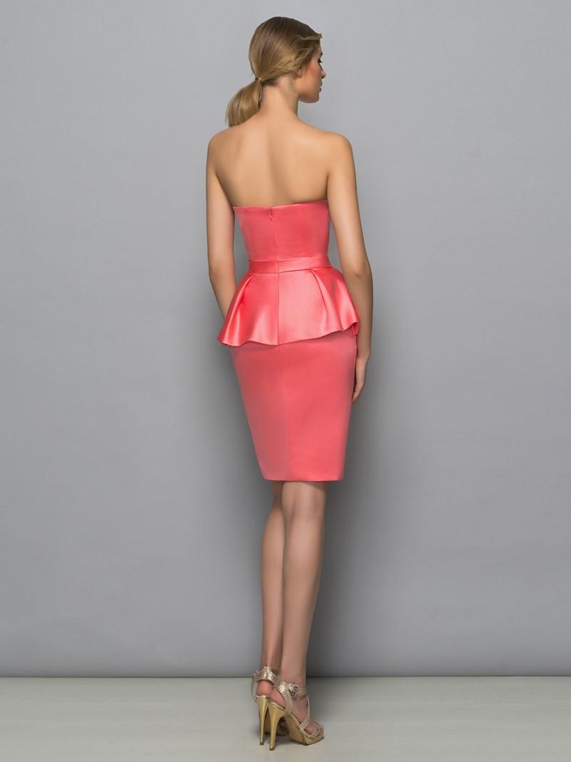 Ericdress Sweetheart Bowknot Ruffles Column Cocktail Dress