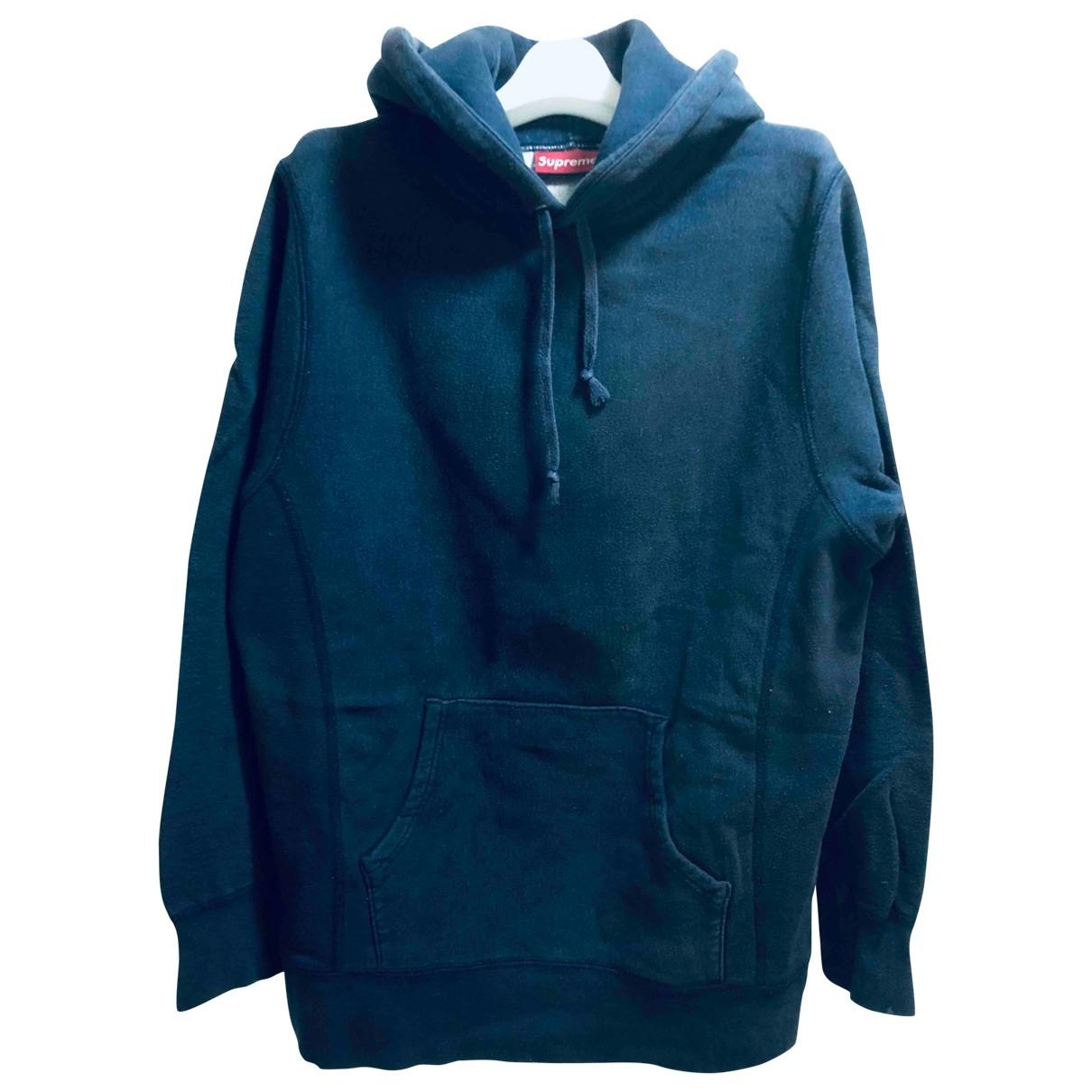 Supreme \N Pullover.Westen.Sweatshirts  in  Marine Baumwolle