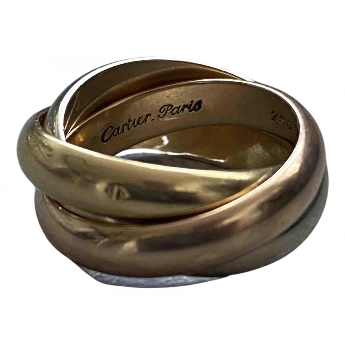Cartier - Bague Trinity pour femme en or jaune - multicolore