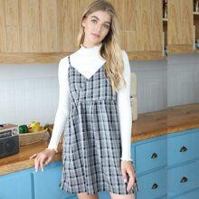 Plaid Wrap Cami Dress
