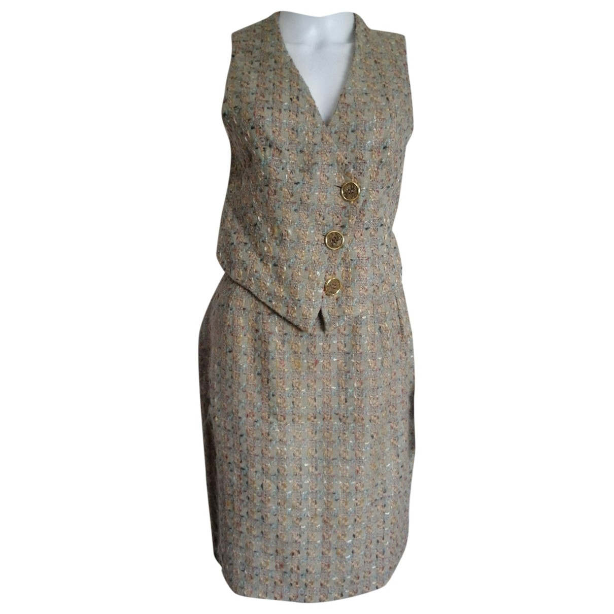 Dior \N Grey Tweed skirt for Women 40 FR