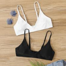 2pack V Neck Bikini Top