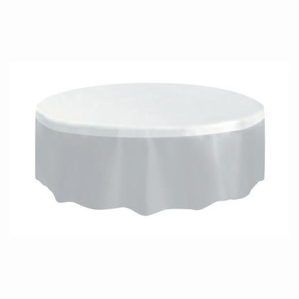 Party Plastic Table Cover Round, Clear 84