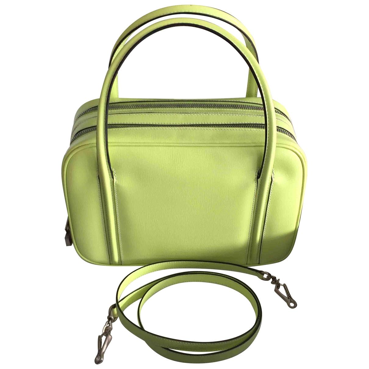 Valextra \N Green Leather handbag for Women \N