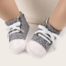 Baby Jungen Sneakers mit Band vorn und Punkten Muster