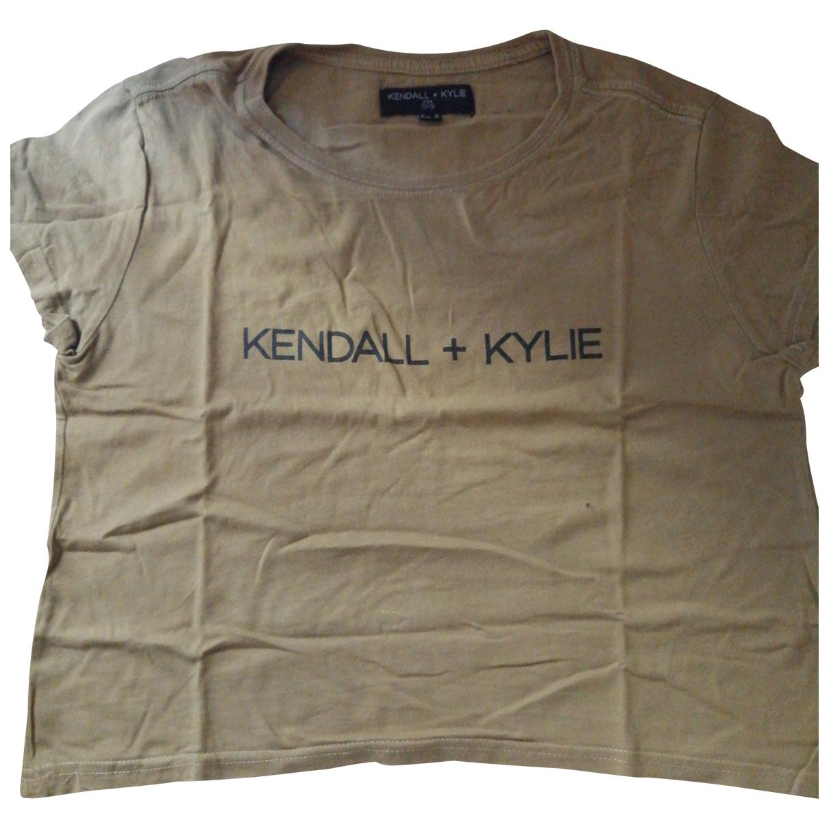 Kendall + Kylie - Top   pour femme en coton - vert