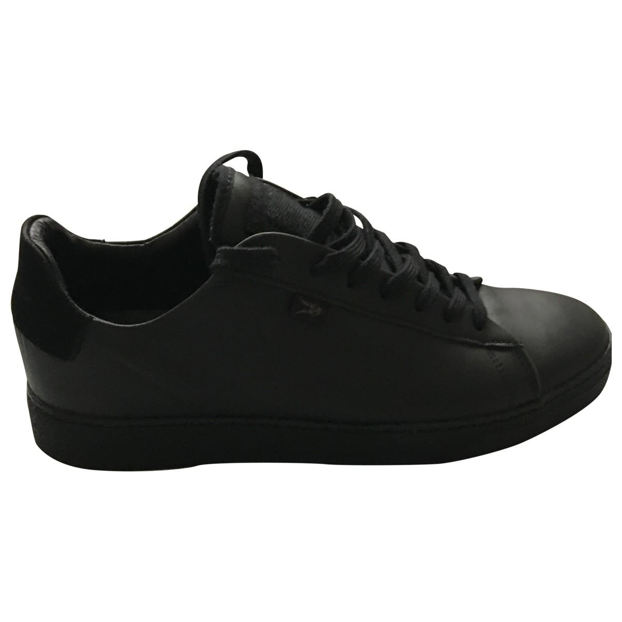 All Saints - Baskets   pour homme en cuir - noir
