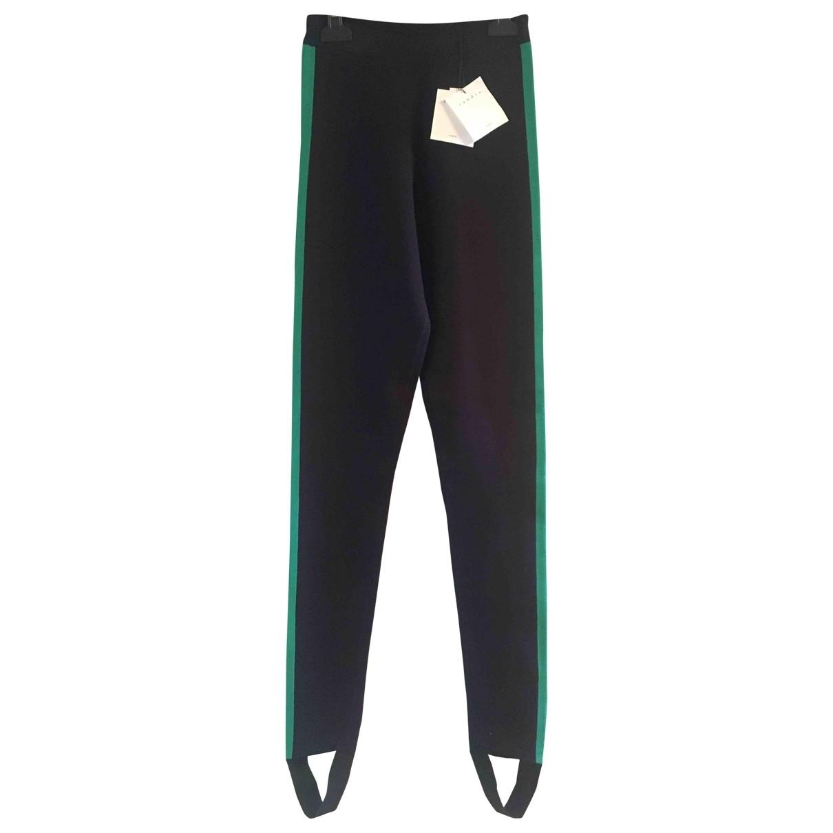 Sandro \N Navy Trousers for Women 36 FR