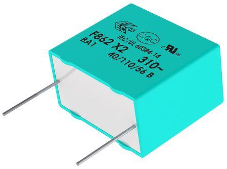 KEMET 1.5μF Polypropylene Capacitor PP 310V ac ±10% Tolerance Through Hole F862 Series (5)