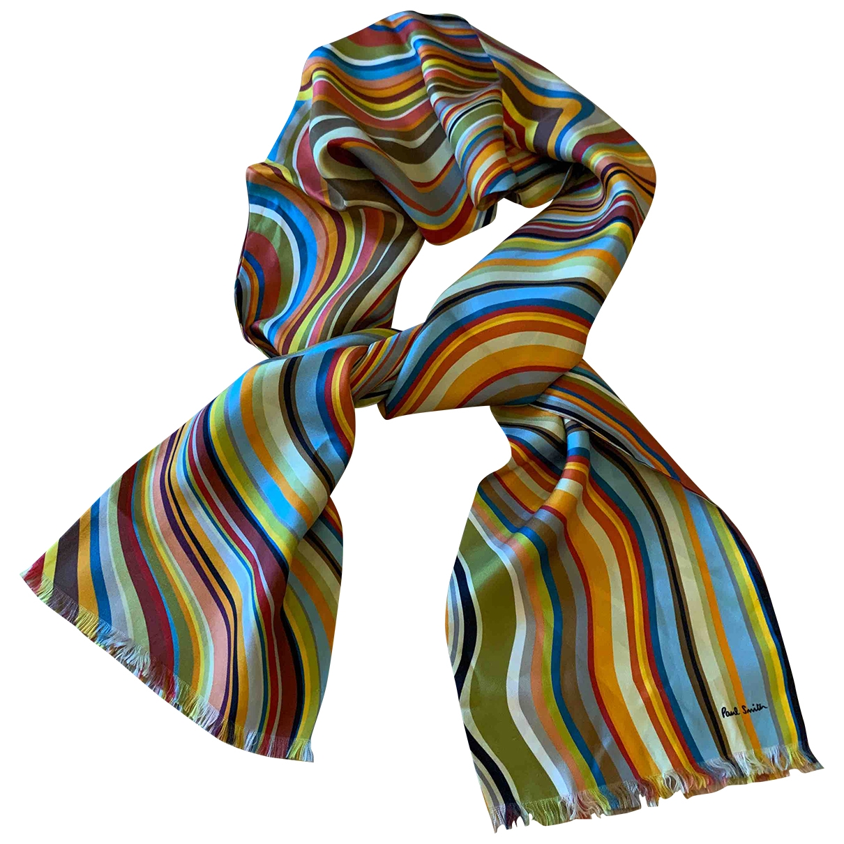 Paul Smith - Foulard   pour femme en soie - multicolore