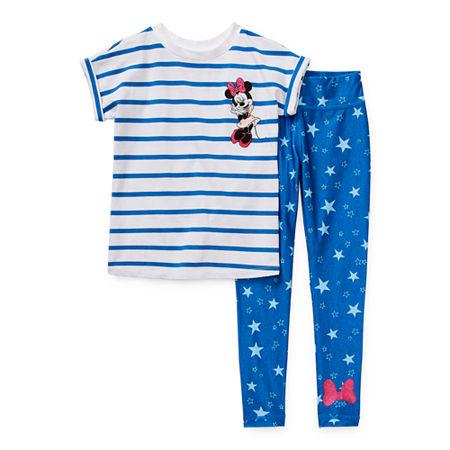 Disney Collection Little & Big Girls 2-pc. Minnie Mouse Legging Set, 4 , Blue