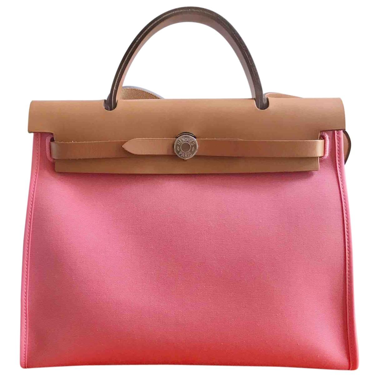 Hermès Herbag Pink Cloth handbag for Women N
