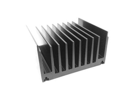 ABL Components Heatsink, Universal Rectangular Alu, 0.48°C/W, 300 x 119 x 65mm, Black