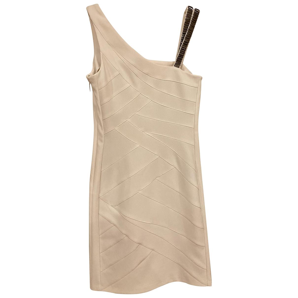 Versace Jeans \N Kleid in  Ecru Polyester