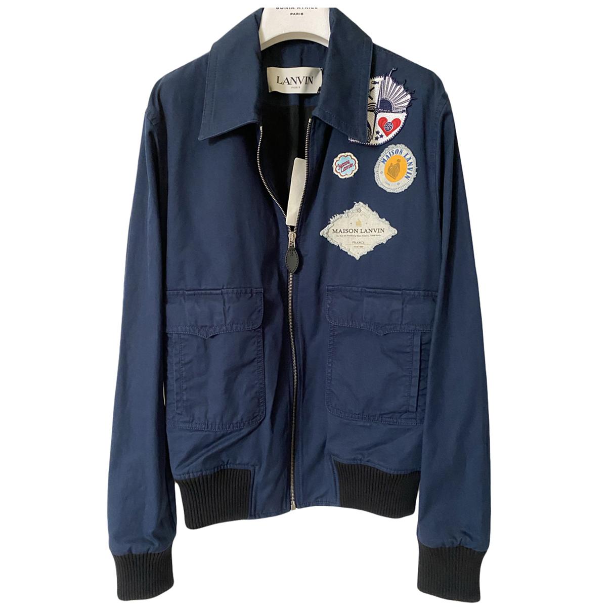 Lanvin N Blue Cotton jacket  for Men 50 FR