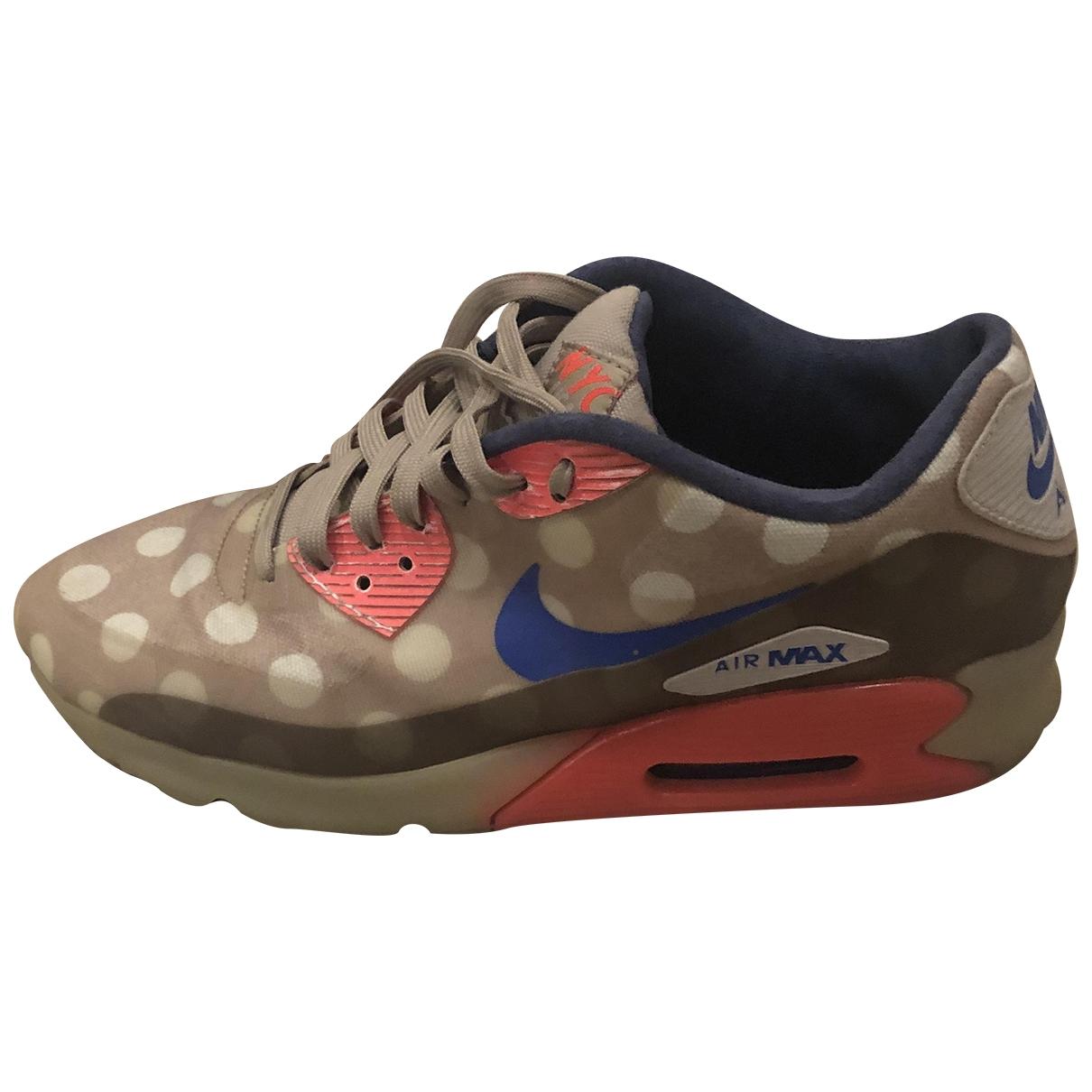 Nike Air Max 90 Sneakers in  Grau Leinen