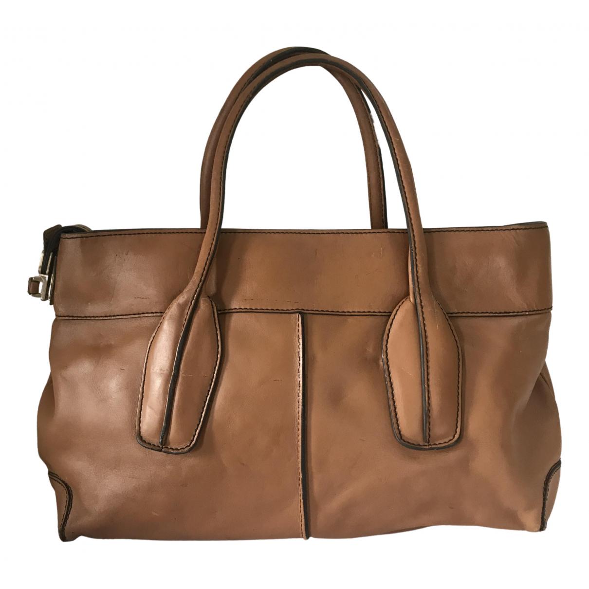 Tods - Sac a main   pour femme en cuir - marron