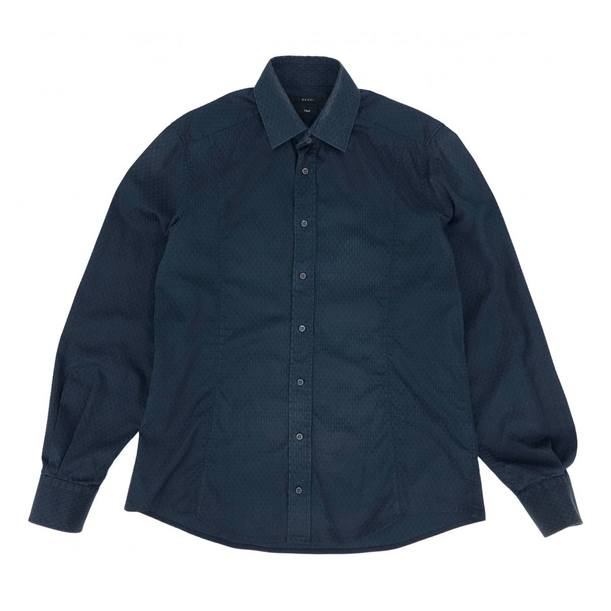 Louis Vuitton \N Hemden in  Blau Baumwolle