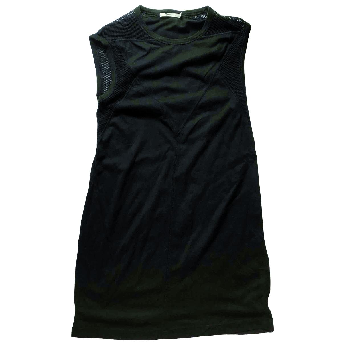 T By Alexander Wang - Robe   pour femme en coton - noir