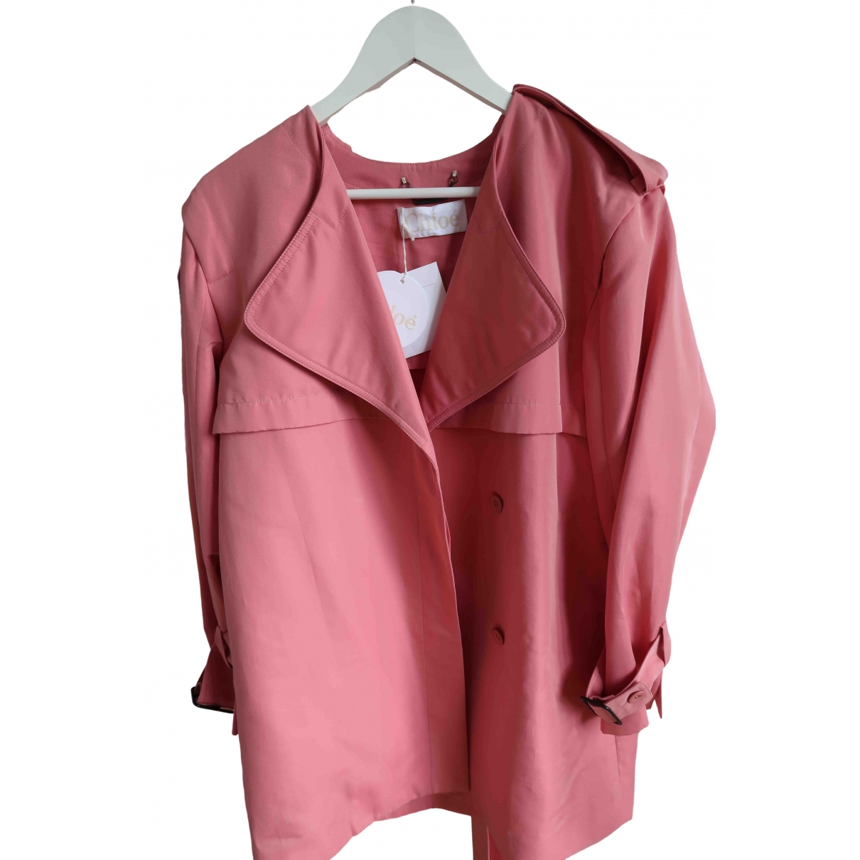 Chloé \N Pink Cotton jacket for Women 42 FR
