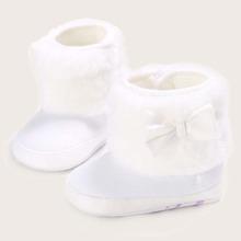 Baby Maedchen flauschige Stiefel mit Schleife Dekor