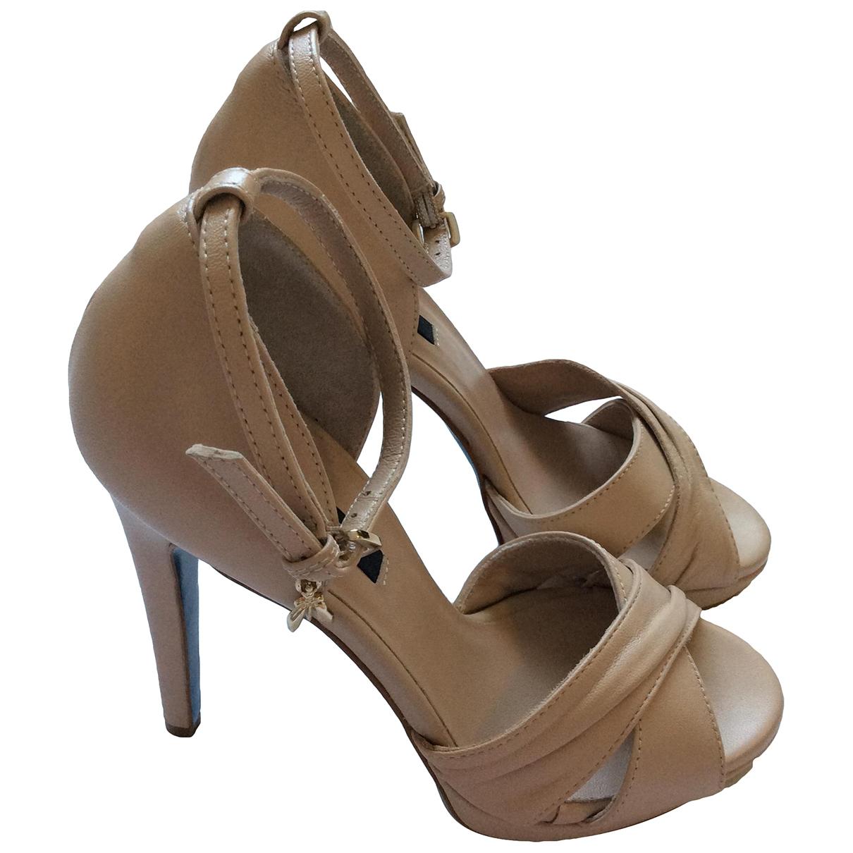Patrizia Pepe - Sandales   pour femme en cuir - beige