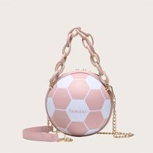 Tasche mit Fussball Design und Kette