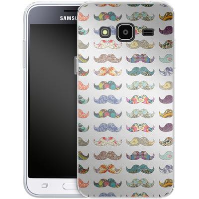 Samsung Galaxy J3 (2016) Silikon Handyhuelle - Mustache Mania von Bianca Green