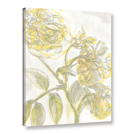 Brushstone Belle Fleur Yellow I Crop Gallery Wrapped Canvas Wall Art, One Size , White