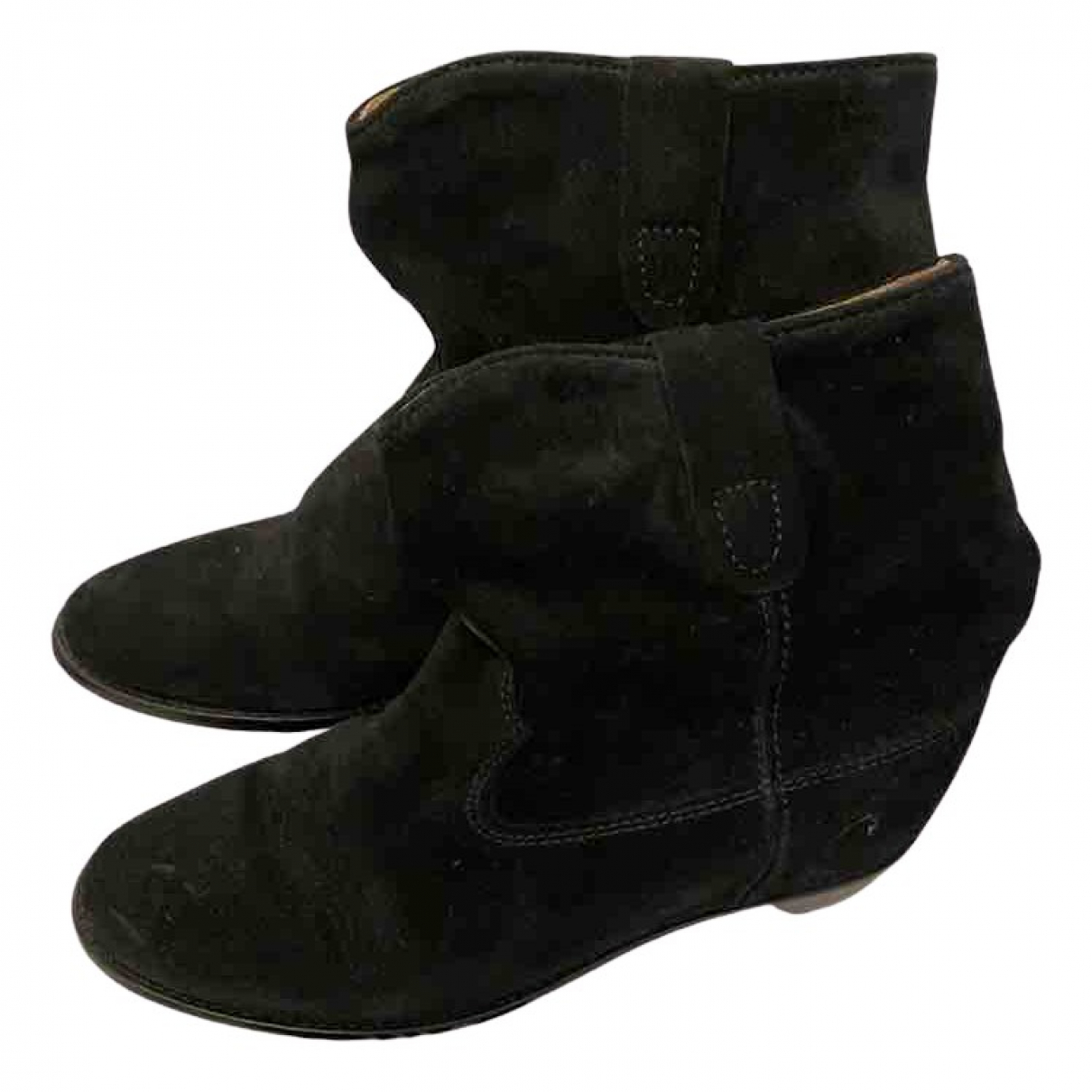 Isabel Marant Crisi  Black Leather Ankle boots for Women 37.5 EU