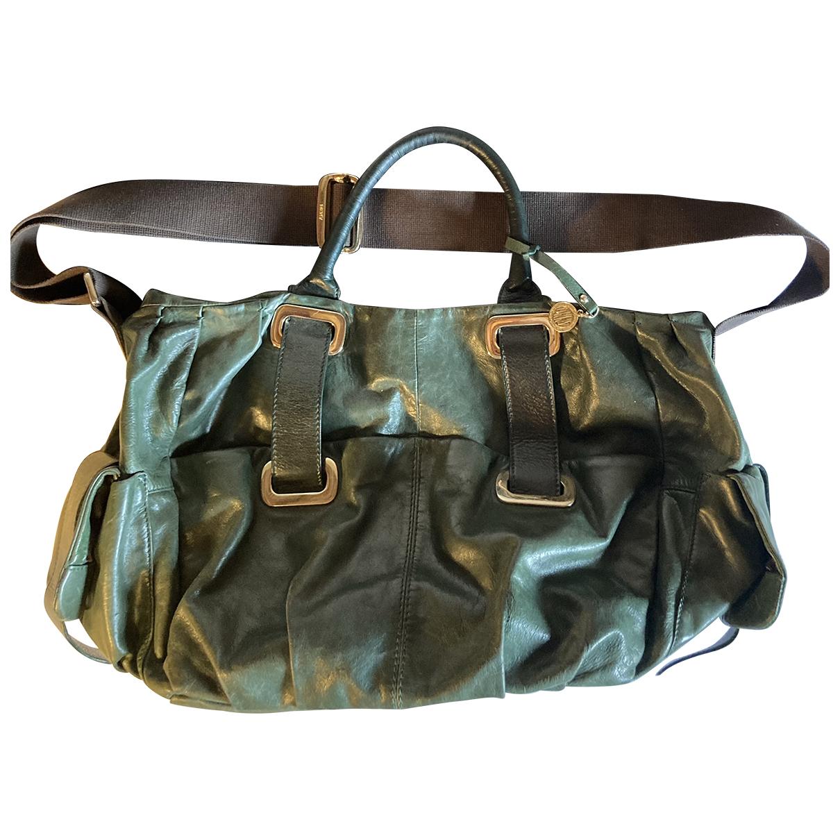 Dkny N Green Leather handbag for Women N