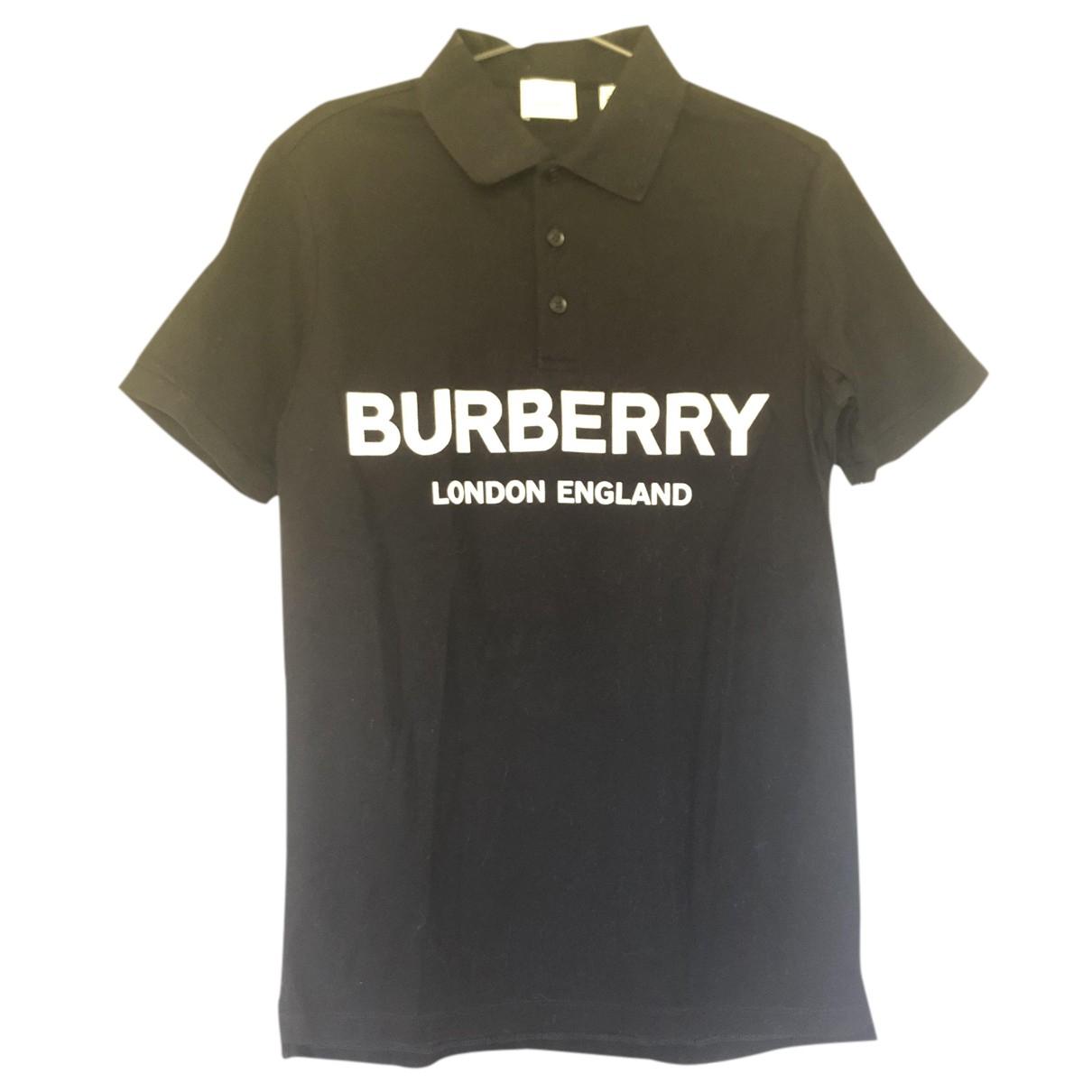 Top en Algodon Negro Burberry