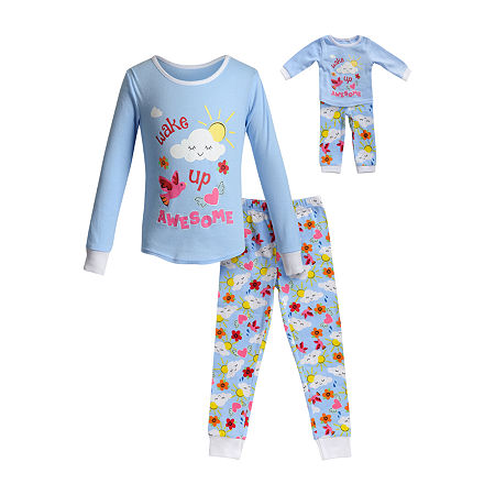 Dollie And Me Little & Big Girls 2-pc. Pant Pajama Set, 14 , Blue