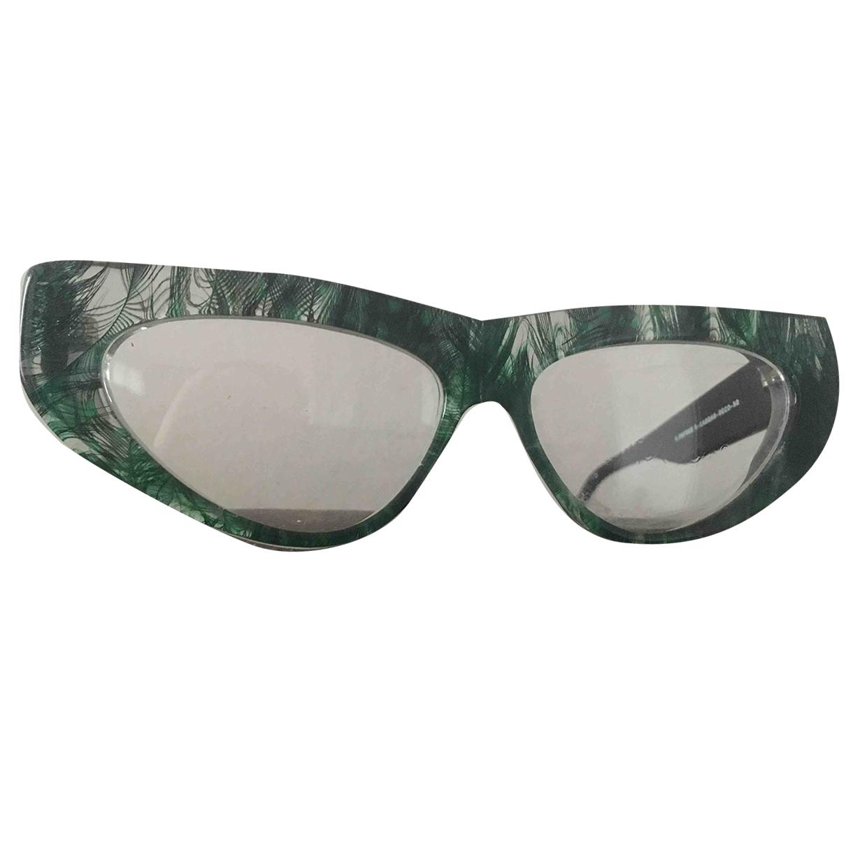 Non Signe / Unsigned \N Sonnenbrillen in  Gruen Kunststoff