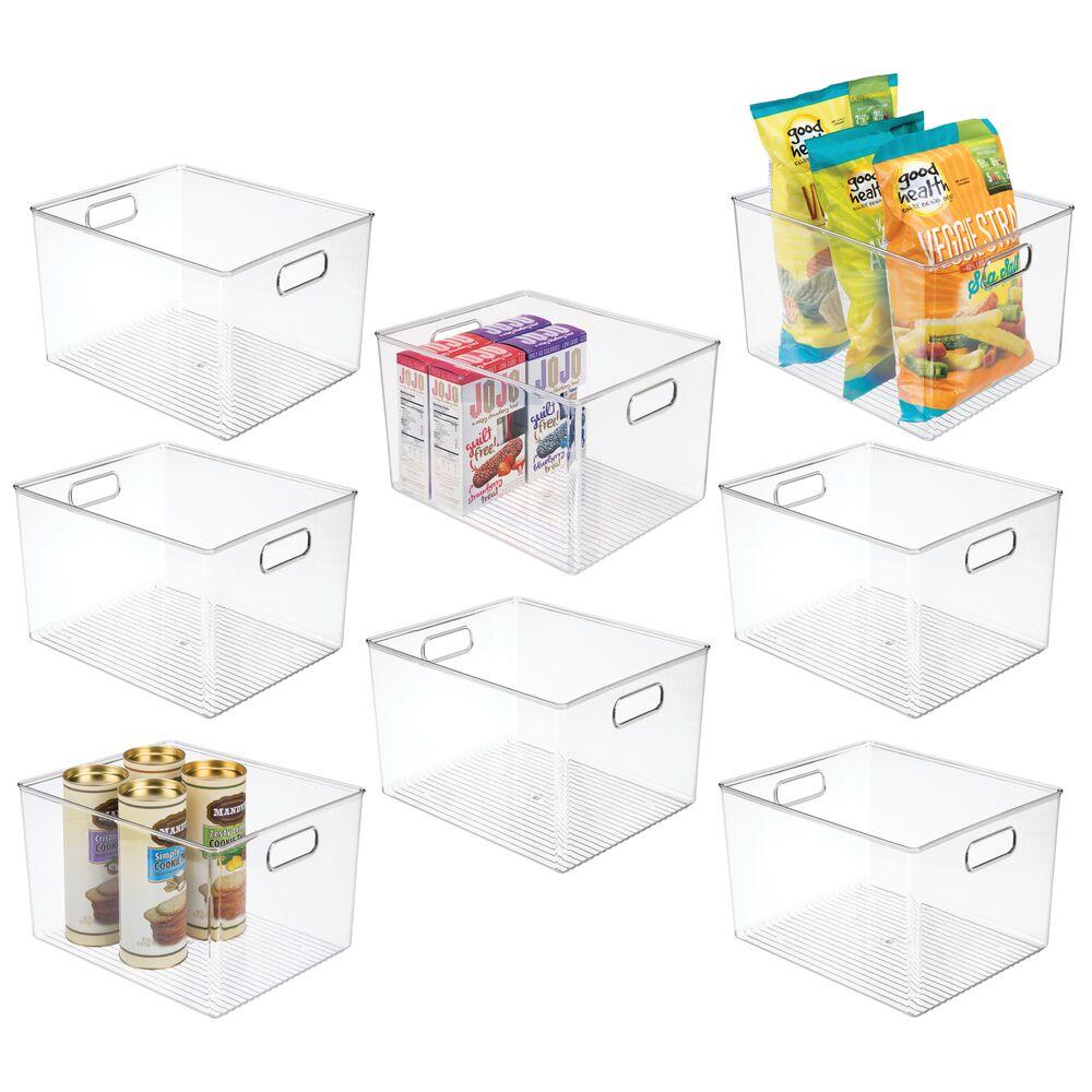 mDesign Plastic Kitchen / Pantry Food Storage Organizer Bin - 12