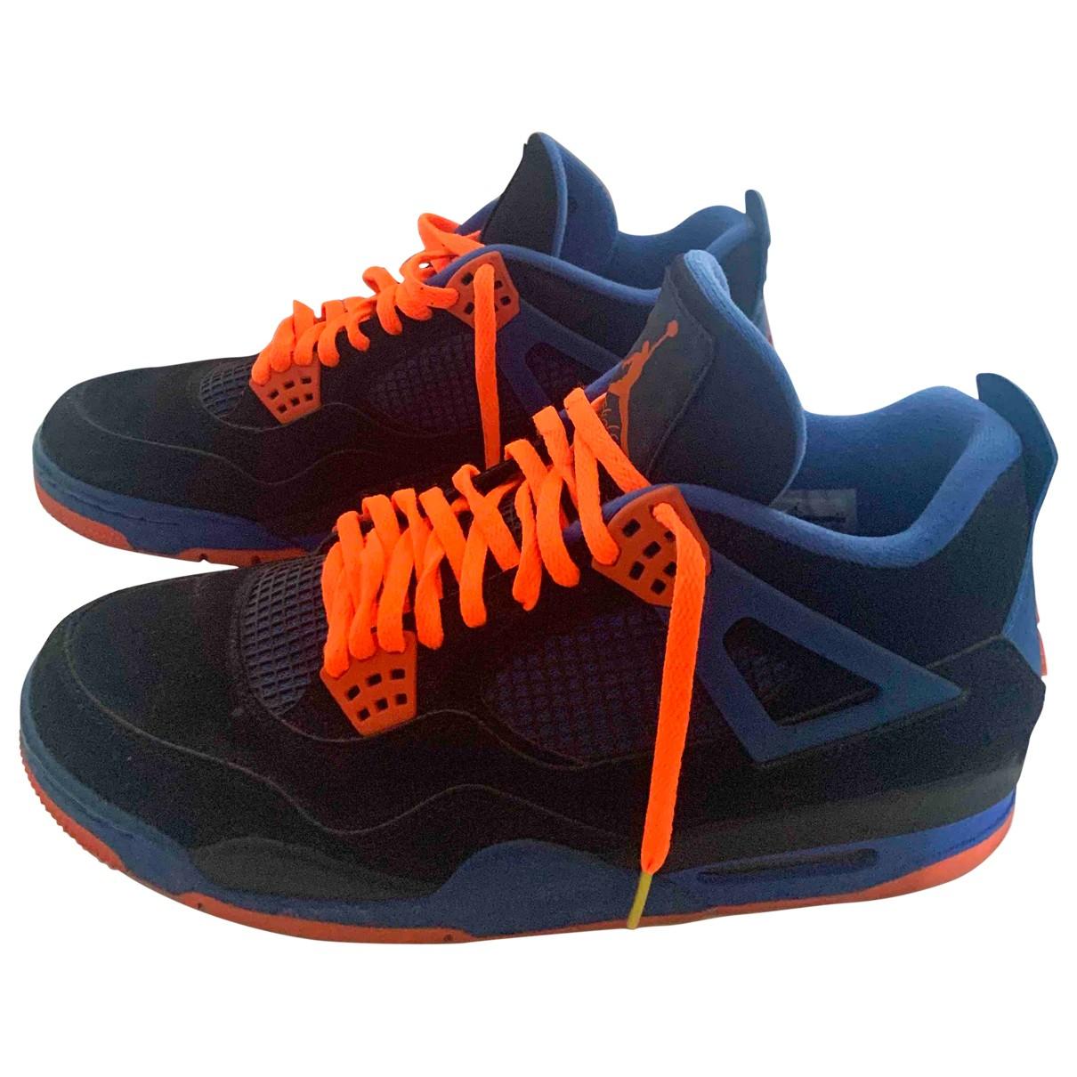 Jordan Air Jordan 4 Sneakers in  Blau Leinen