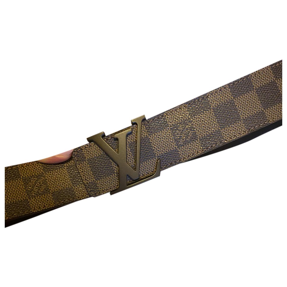 Louis Vuitton - Ceinture Initiales pour homme en toile - marron