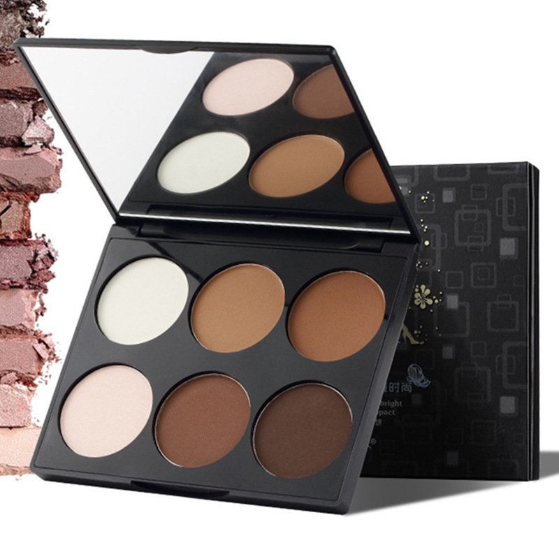 Six-Color High-Gloss Shadow Combination Nose Shadow Brightening Highlighters Face Makeup