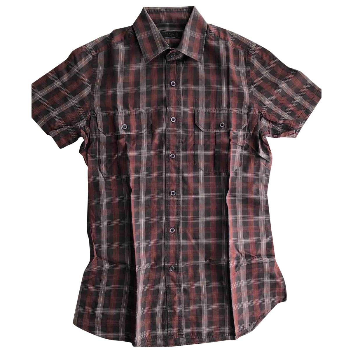 Prada \N Hemden in  Braun Baumwolle