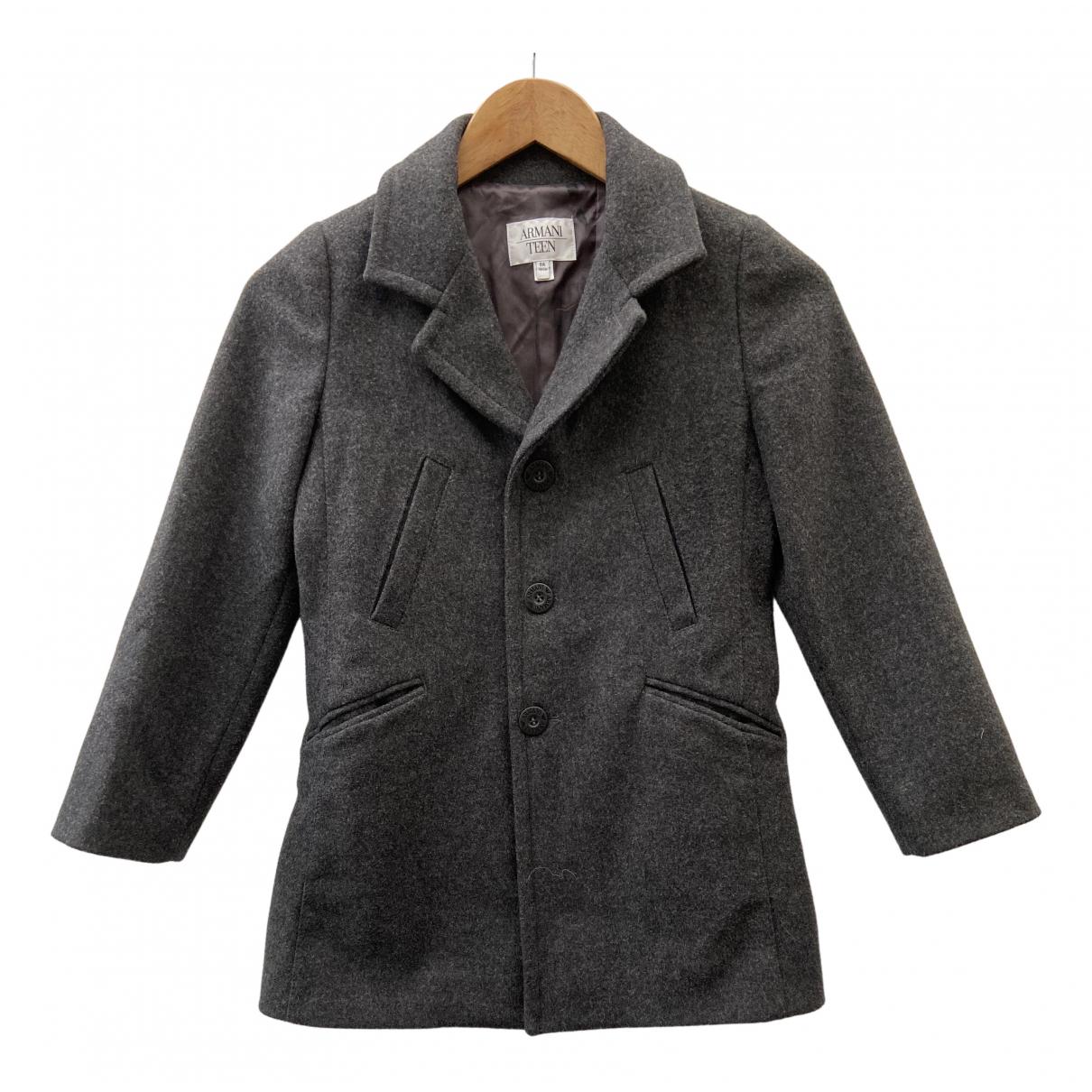 Armani Baby \N Jacke, Maentel in  Grau Wolle