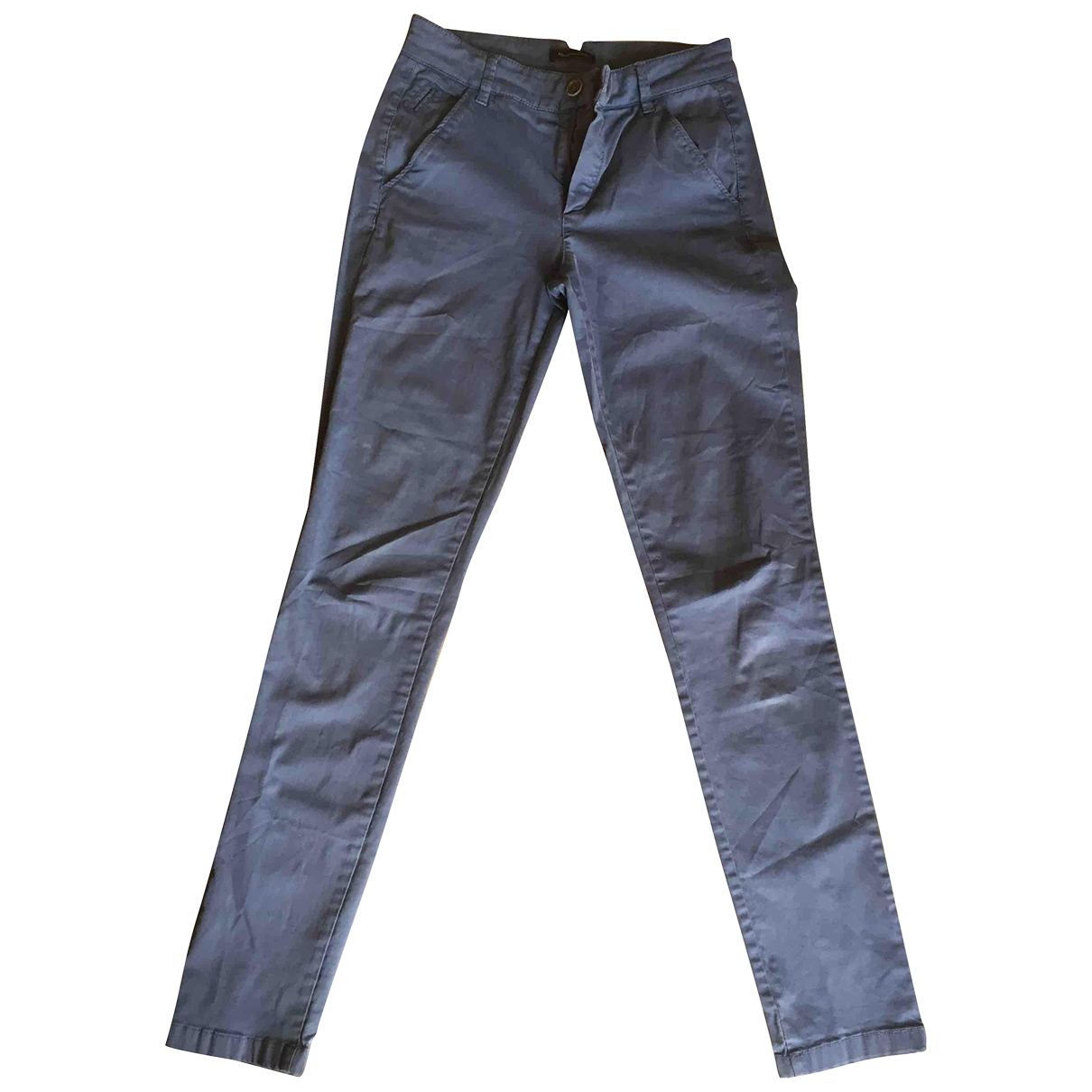 Massimo Dutti \N Blue Cotton Trousers for Women 2 0-5