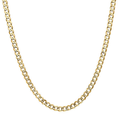 14K Gold Solid Curb Chain Necklace, One Size , No Color Family