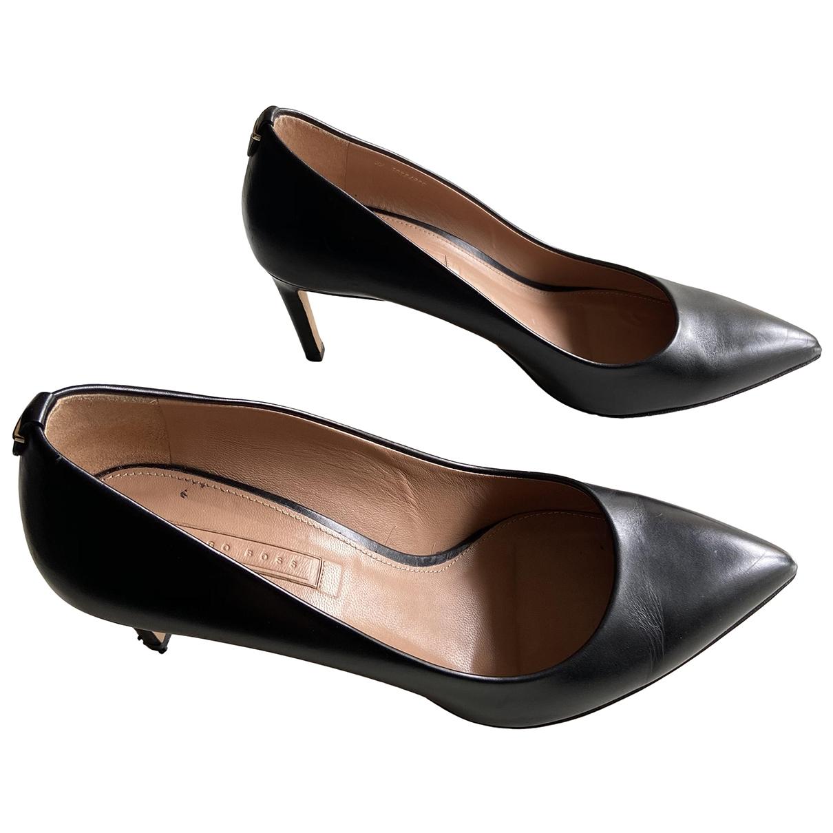 Boss \N Black Leather Heels for Women 39 EU