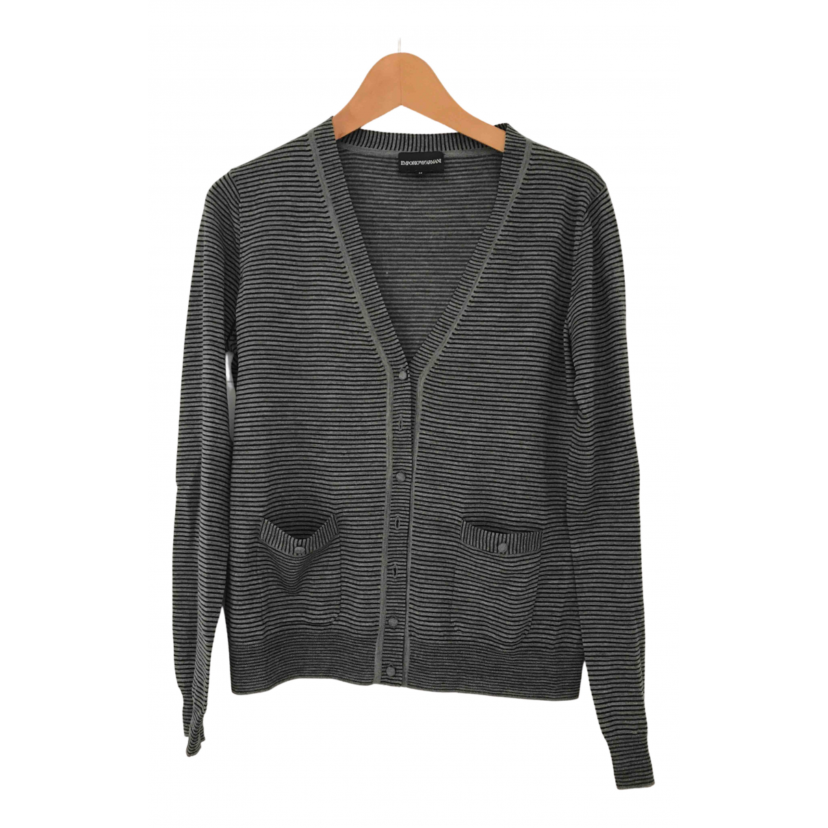 Emporio Armani N Grey jacket for Women 46 IT