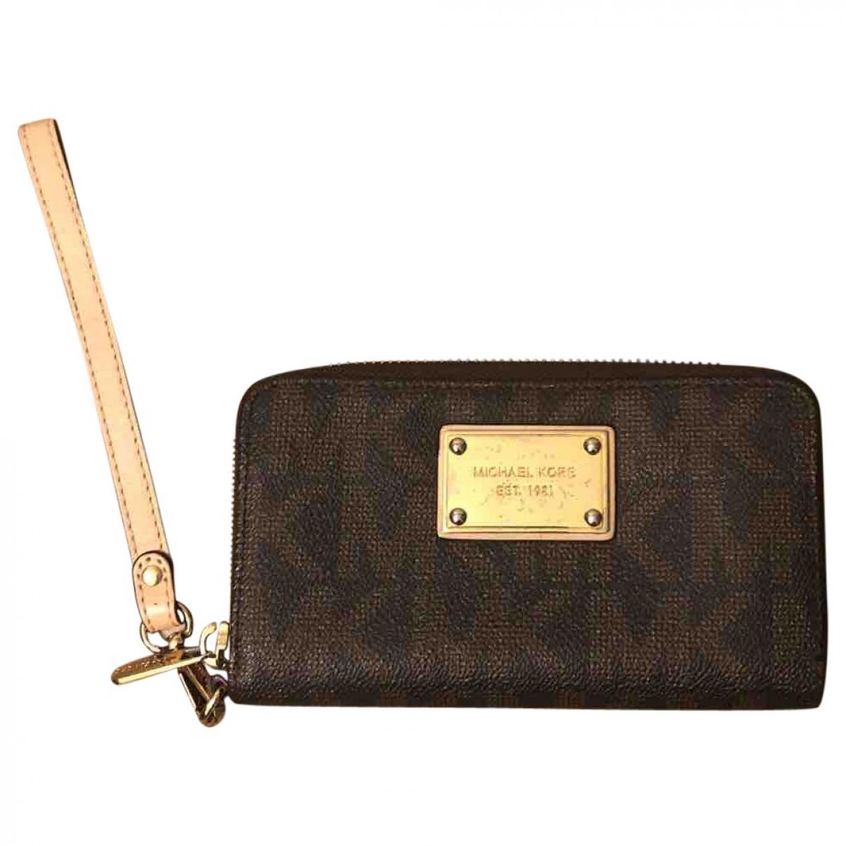 Michael Kors - Portefeuille   pour femme en cuir - marron